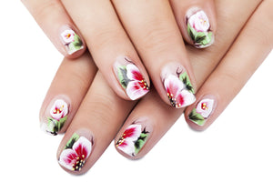 Stylish seasonal nail art