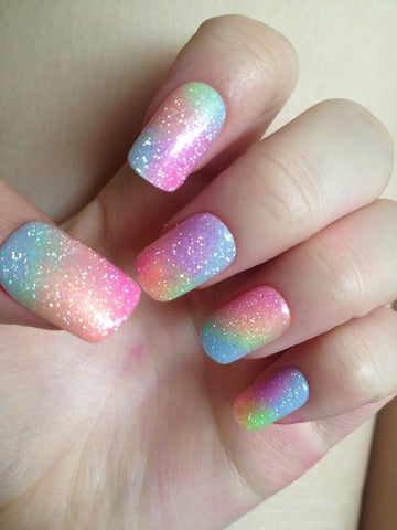 Unicorn Shimmer Nail Art