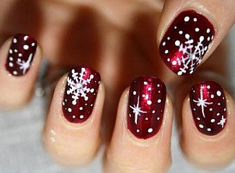 all you need is the right red your client wants and they will love this design and dont forget to seal your gel polish nail art with chroma gel no wipe - Red Christmas Nails