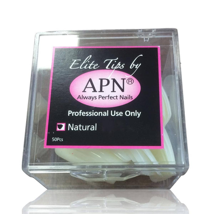 APN Professional Natural Elite Nail Tips Pack of 50 (size 1-10)