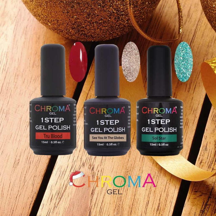 Chroma Gel 1 Step Gel Nail Polish Festive Collection