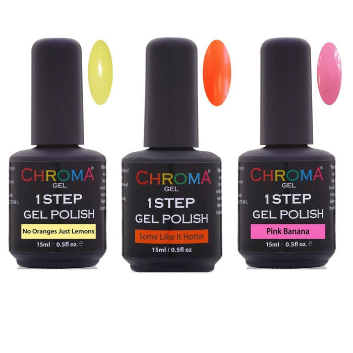 Chroma Gel 1 Step Gel Nail Polish Summer Collection