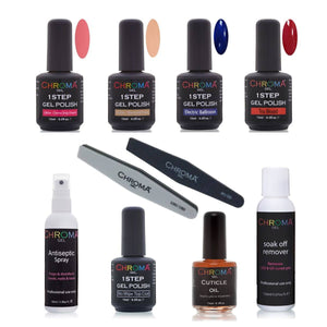 Chroma Gel 1 Step Gel Polish Pro Starter Kit - Chroma Gel