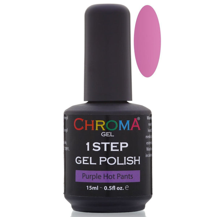 Chroma Gel 1 Step Gel Polish Purple Hot Pants No.6