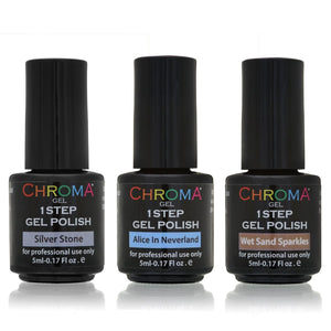 Chroma Gel 1 Step Gel Polish Shades of Cool Collection 3x5ml - Chroma Gel