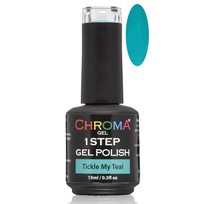 Chroma Gel 1 Step Gel Polish Tickle My Teal No.61