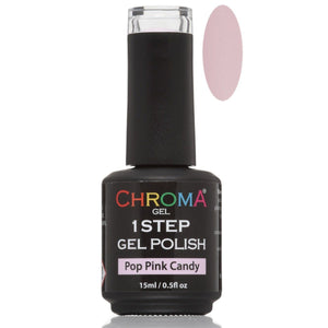 Chroma Gel Gel 1 Step Gel Polish Pop Pink Candy No.79 - Chroma Gel