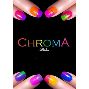 Chroma Gel Salon Poster | Colourful Nails - Chroma Gel