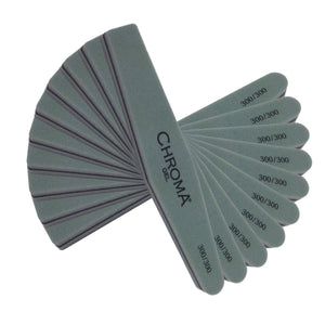 Pack of 12 Chroma Gel Nail Buffer 300 | 300 Grit - Chroma Gel