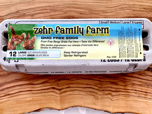 Load image into Gallery viewer, Zehr Farms Free Range Eggs,  GMO Free & Grass Fed