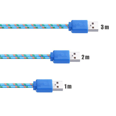 1M 2M 3M USB Cable Nylon Braided Micro USB 3.0 Data Sync Charger Cable For Samsung Galaxy S5 Note 3 N900 N9000 N9006 N9002 N9008