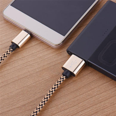 1m 3ft Braided Micro USB Charging Cable Sync Data Cord for Samsung S3 S4 S5 S6 S7 Edge Note5 for Sony Huawei Xiaomi HTC LG Meizu