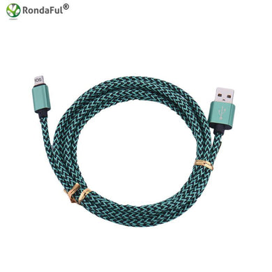 1m USB Charger Cable for iPhone 5 5s 5c SE 6s 6 plus 7 7plus Nylon Braided Data Sync Cord 8 pin ios 8 9 Fast Charge