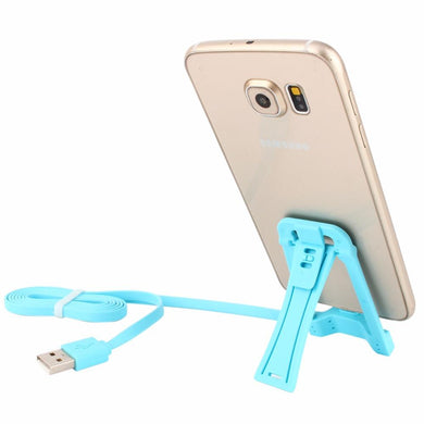 2 in 1 Micro USB Data Charging Cable Cord + Foldable Phone Holder Stand for Samsung xiaomi All Andriod Smartphone