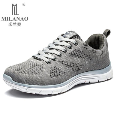2016 MILANAO New Sports Flyknit Racer Running Shoes For Men & Women . Breathable Men's Athletic Sneakers Krasovki zapatillas