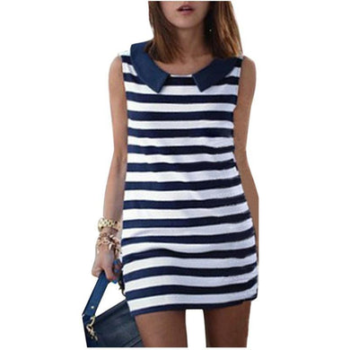 2016 New Arrival Summer Women Dress Stripe Sleeveless Dress Fashion Women Striped Pencil Dress vestidos femininos