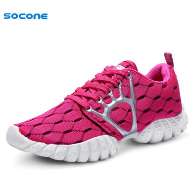 2016 New Color Women Sneakers Spring Summer Breathable Mesh Light Running Shoes For Female Outdoor Sport Lady Trainer 9912-2