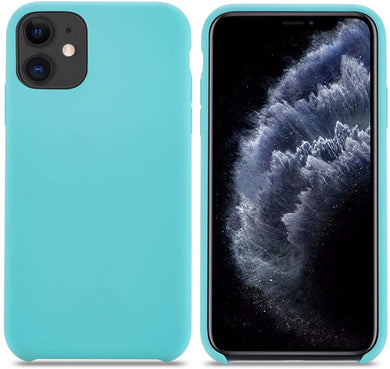 Coque iPhone 11 Silicone Liquide Fine Originale Étui Ultra Slim Gel  Antichoc Protection Case avec Tissu Microfibre Coussin Cover pour Apple  iPhone 11. (6.1inch Bleu Nuit)