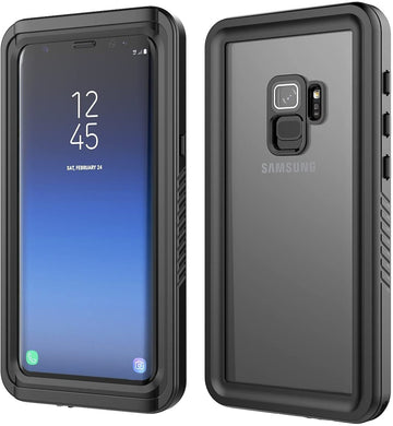 Coque Etanche Samsung Galaxy S9 Etui FugouSell Samsung S9 Ultra Slim 360°  Housse de Protection Imperméable Case Antichoc Antipoussière Anti-neige  Waterproof Case avec Protecteur d'écran Noir 1