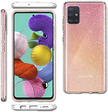 Spigen Coque Samsung A51 Coque Galaxy A51 [Liquid Crystal Glitter]  Protection Paillette Souple Silicone (ACS00932)
