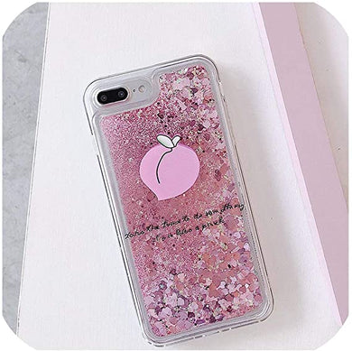 Coque pour iPhone XR XS 7 maximum 8 Plus Glitter Quicksand liquide Flower  Pattern Cover