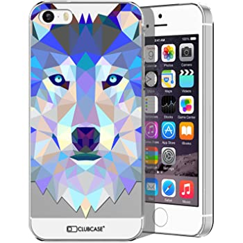 Coque Housse Etui Pour iPhone 5 / 5S / SE Polygon Animal Rigide Fin Chien
