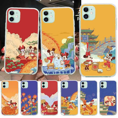 MICKEY MOUSE DISNEY CARTOON case coque étui iPhone 4 5c 5s SE 2 6 7 8 Xs XR  Max+
