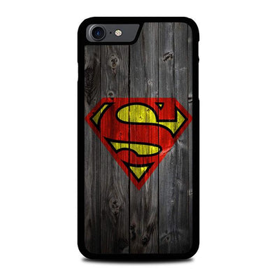 Wood Superman Logo 1215 F0249 iPhone 7 , iPhone 8 coque