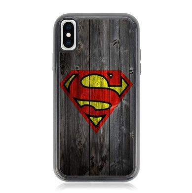Wood Superman Logo 1215 F0249 iPhone XS Max coque