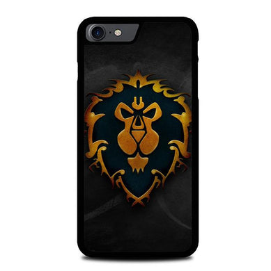 World of Warcraft Alliance Gold Logo Z4196 iPhone 7 , iPhone 8 coque