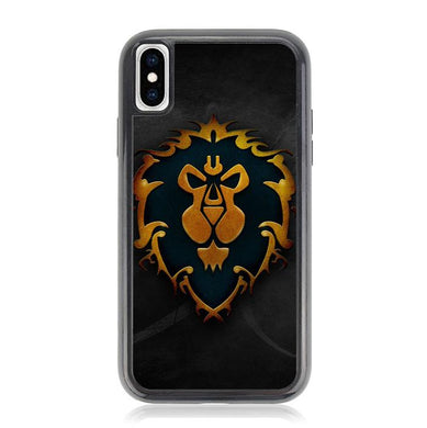 World of Warcraft Alliance Gold Logo Z4196 iPhone XS Max coque