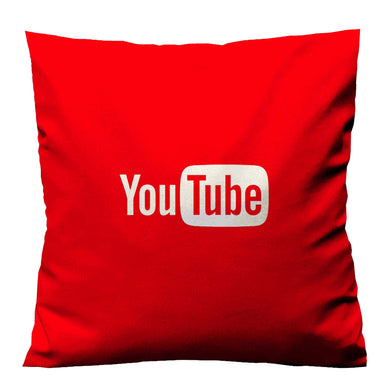 YOUTUBE RED LOGO Housse de coussin