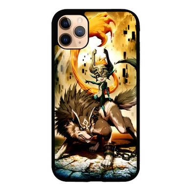 Zelda and wolf twilight princess Z0255 iPhone 11 Pro coque