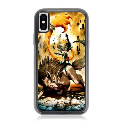 Zelda and wolf twilight princess Z0255 iPhone XS Max coque