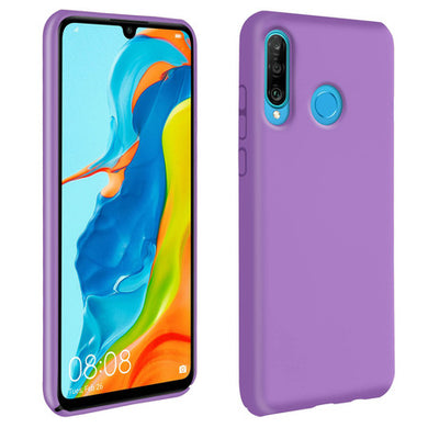 Coque Huawei P30 Lite Silicone Semi rigide Mat Finition Soft Touch violet