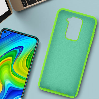 Coque Xiaomi Redmi Note 9 Silicone Semi-rigide Finition Soft Touch Vert