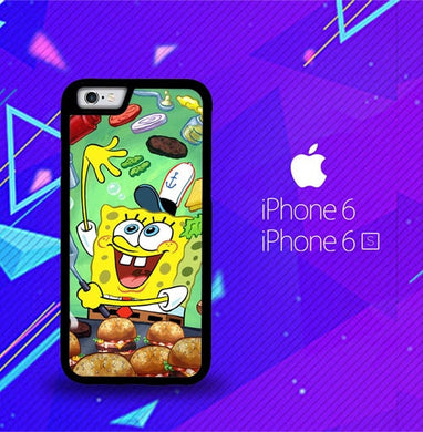 Spongebob Squarepants krabby patty Z0046 coque iPhone 6, iPhone 6S