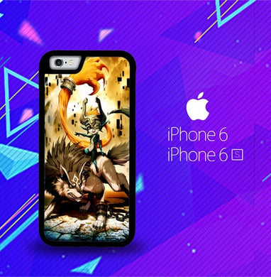 Zelda and wolf twilight princess Z0255 coque iPhone 6, iPhone 6S