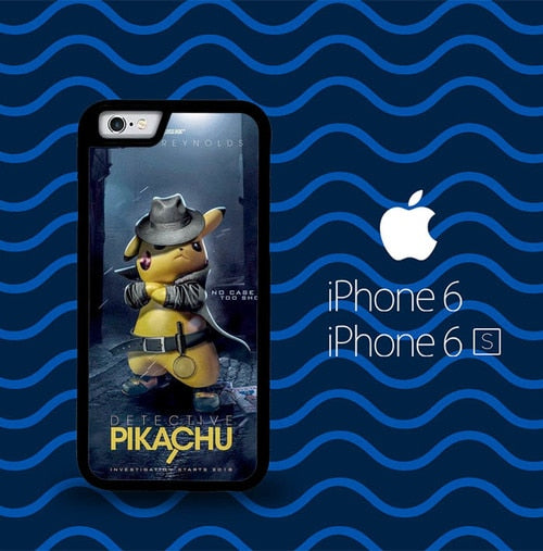pokemon detective pikachu Z4321 coque iPhone 6, iPhone 6S