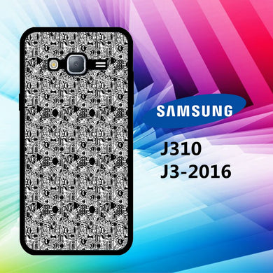 coque J3 2016 J310 J3 2017 J330 J5 2016 J510 J5 2017 J530 case S2073 black and white wallpaper 32zJ8