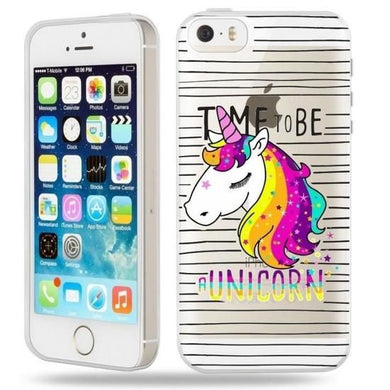 Coque iphone 5 5S SE Panda licorne ninja raye unicorn transparente
