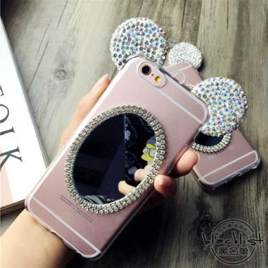 coque iPhone 6 6s Minnie Miroir Rose