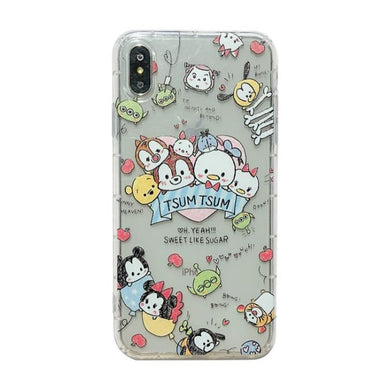 Coque iPhone X XSDisney Mickey Minnie Coussin d'air 1 Coque Compatible iPhone X XS
