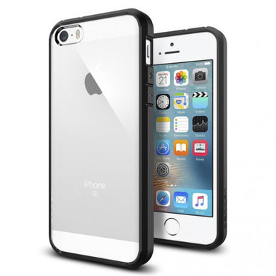 Spigen Coque iPhone 5S / 5 / Se [Ultra Transparente Silicone en Gel] Coque  Orig