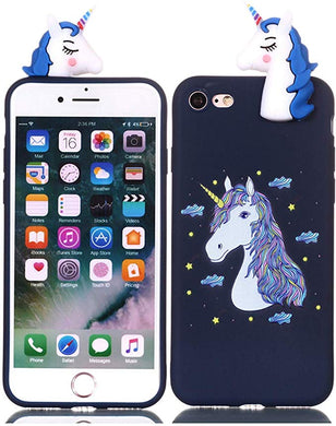 coque iphone 7 silicone 3d licorne