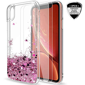 coque iphone xr paillette liquide