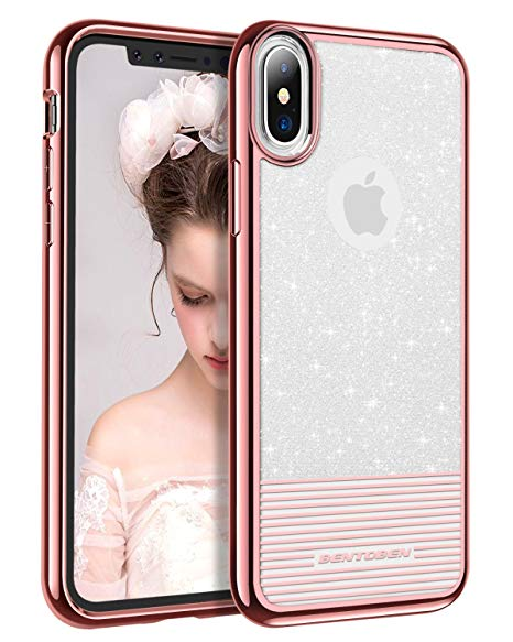 coque iphone xs rose paillette
