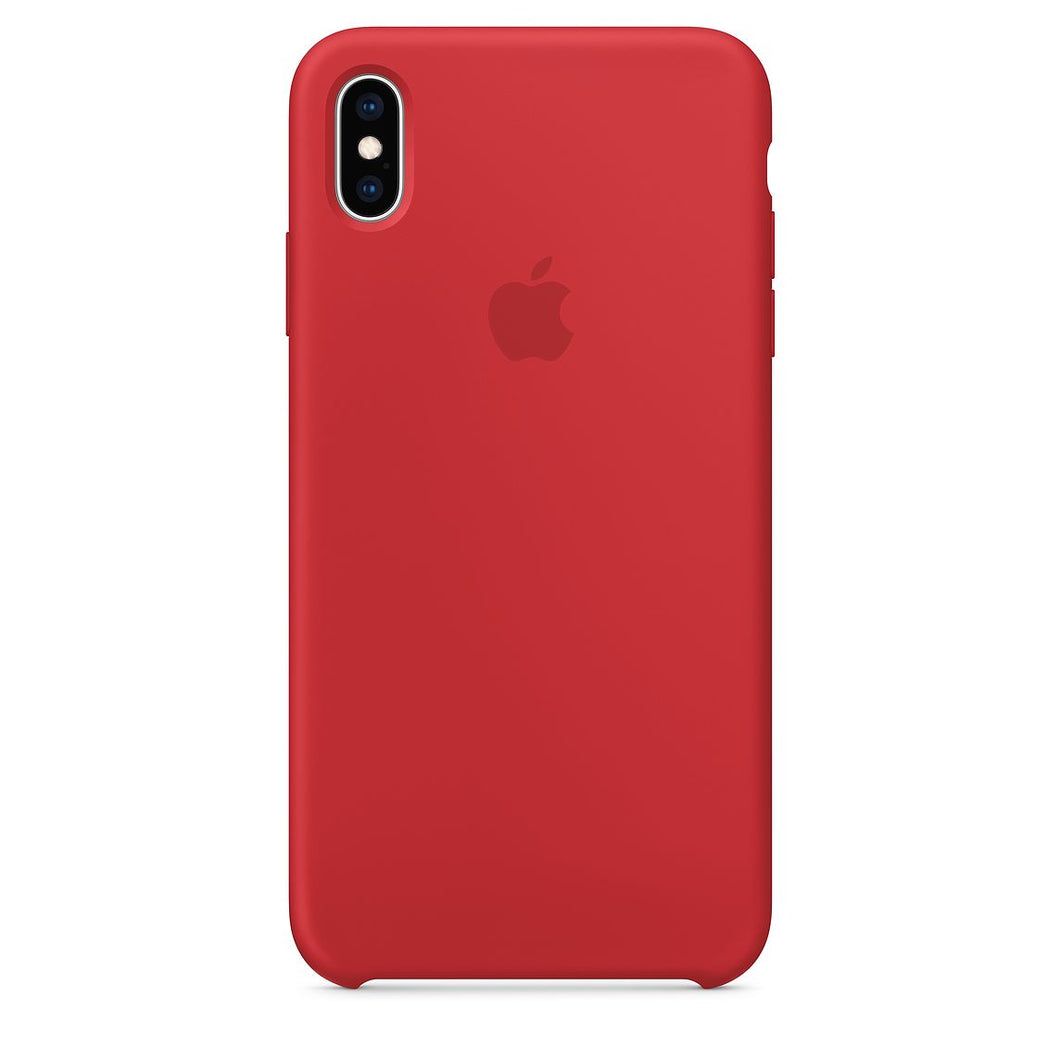 coque iphone xs silicone rose apple