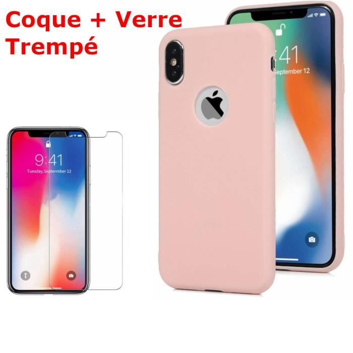coque rose iphone xr silicone
