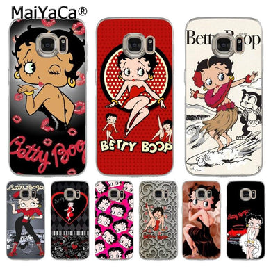 Coque Samsung Galaxy S6 Edge : Betty Boop Vintage